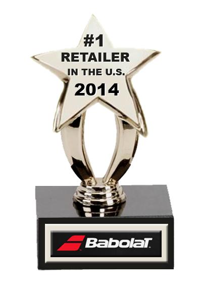 Babolat Number 1 Retailer 2014 US